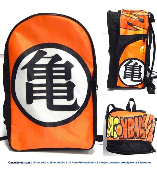 Dragon Ball Z Mochila Backpack Kanji Roshi Goku Tortuga