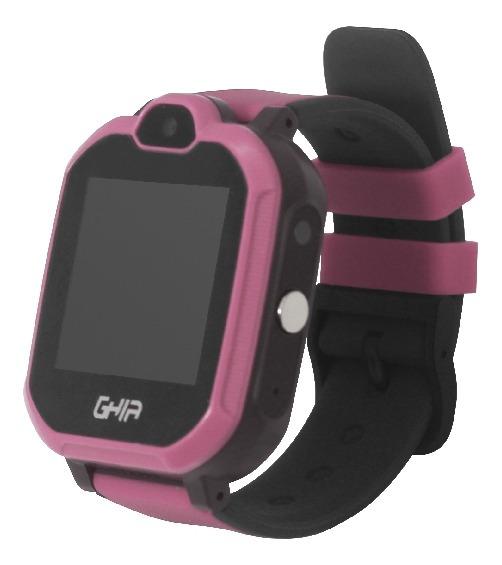 Ghia Smart Watch Kids 4g Rosa-negro/ 1.44 Pulgadas Touch Con