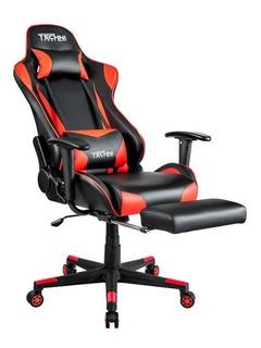 Silla Gamer Reclinable 180 ° Rojo Con Negro Technisport