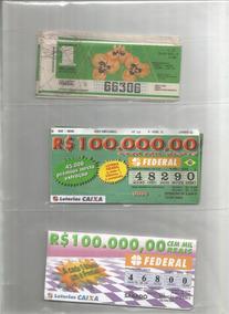 Brasil 1987/2016 - 100 Décimos De Bilhete Da Loteria Federal