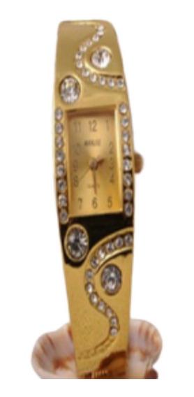 Relógio Feminino Com Caixa Luxo Frete Grátis Lindo Dourado