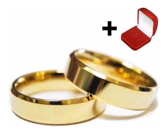 Lindo Par Alianças Moeda Antiga 6mm Chanfrada Casamento