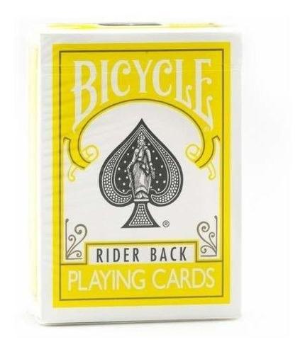 1 Baraja De Cartas Amarillas De Juego Para Bicicleta Amarill