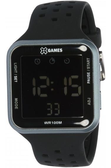 Relógio X Games Digital Negativo Masculino Xgppd091 Original