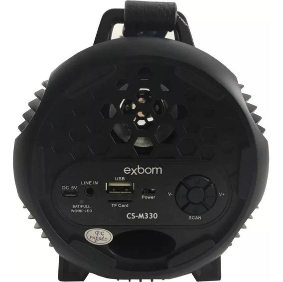 Caixa De Som Tambor Bluetooth 8w Bombox Fm/usb/sd Cs-m330bt