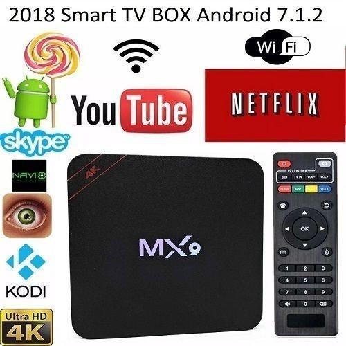Tv Box Mx9 Transforme Sua Tv Em Uma Smart 4gb+32gb