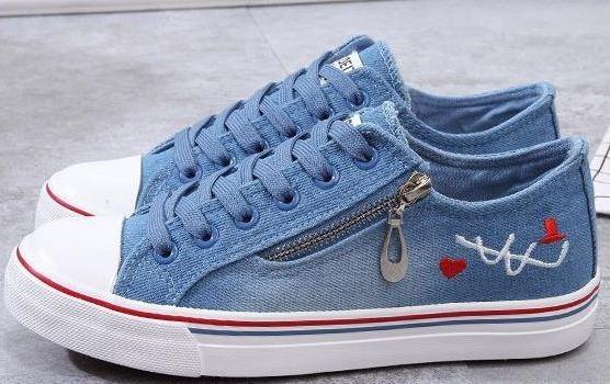 Tenis Jeans Brim Lona Com Detalhe Em Ziper