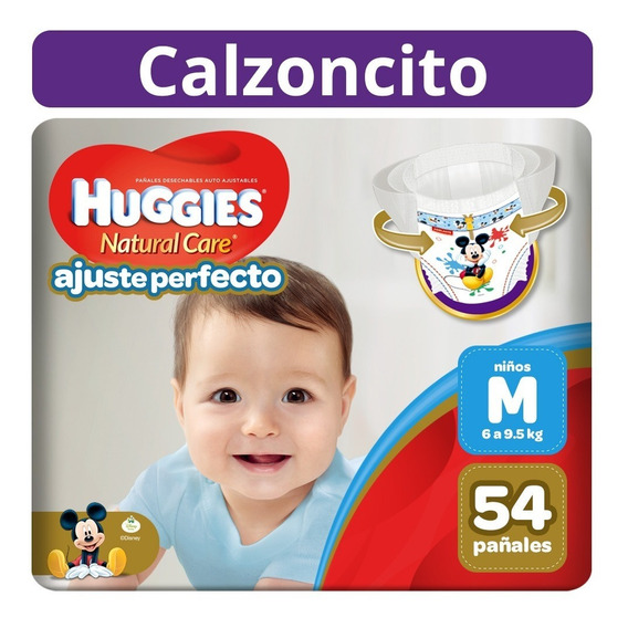 Pañal-calzoncito Ajuste Perfecto Huggies Niño M 54 Unidades