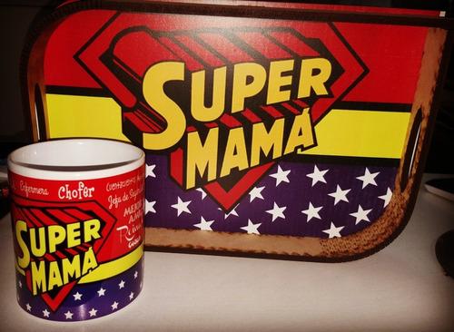 Set Desayuno Dia De La Madre Bandeja Y Taza Personalizada
