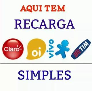 Recarga Celular Online R$:15,00 Vivo Tim Claro Oi