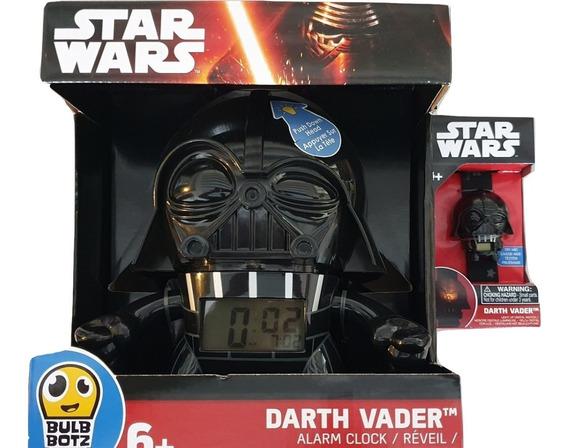 Reloj + Despertador 19cm Darth Vader Bulb Botz Nuevo Factura