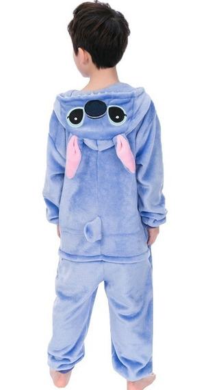 Kigurumi Stitch Cosplay Pijama Mameluco Disfraz Niño Niña