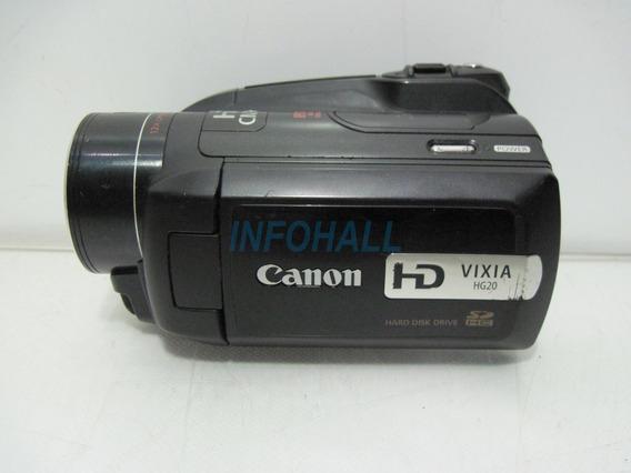 Filmadora Canon Hd Sdhc Vixia Hg20 Defeito Não Liga P/ Peças