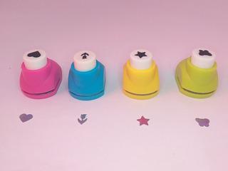 Mini Perforadora De Papel 4 Pz Scrapbook Diferentes Figuras