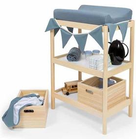 Trocador Bebê Com Prateleira Pinus Fs Design