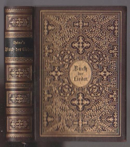 Heine Buch Der Lieder 1889 Belíssima Encadernação, Uma Joia!