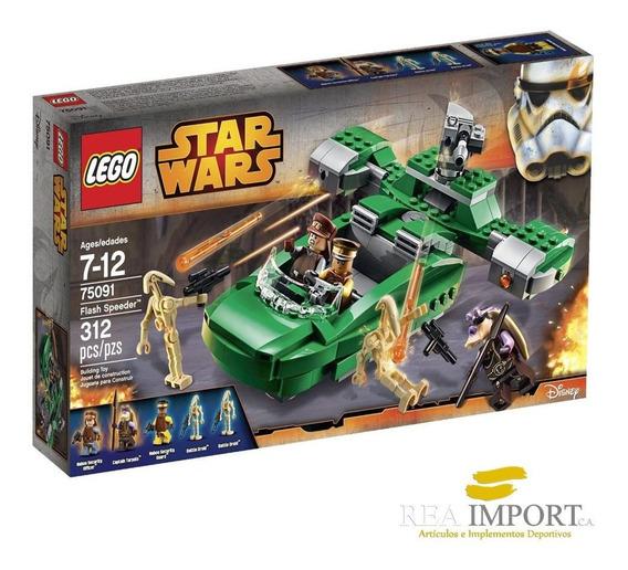 Lego Star Wars 312 Pzs Flash Speeder 75091 + 5 Minifiguras