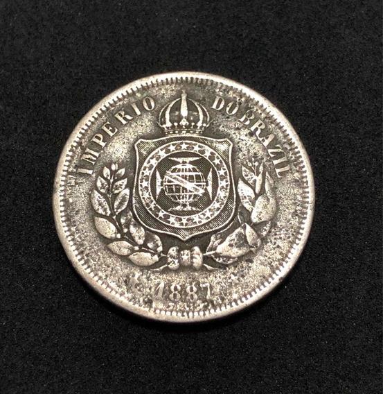 Moeda Antiga 100 Réis 1887 Império Do Brasil