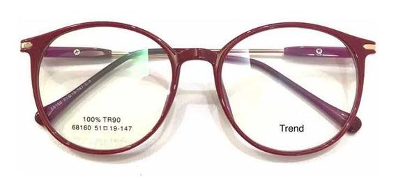 Óculos Armação Sem Grau Redondo Acetato Varis Cores Pg
