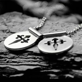 Escapulário Cruz De Santiago Aço Inox Acessório Masculin