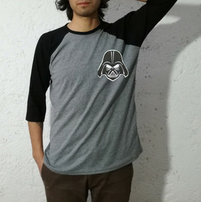 Star Wars Darth Vader Playera Hombre Skate Raglan Moda