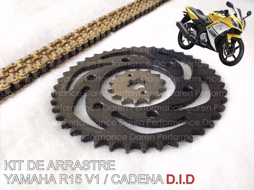 Kit De Arrastre Yamaha R15 Piñones Cadena Did Kit R15 V1