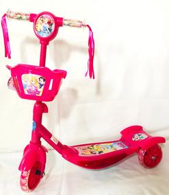 Patinete Infantil Princesas Luz Musical Scooter