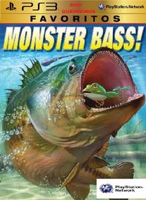 Monster Bass Pescaria Vara De Pesca Ps3 Digital Barco Pesca