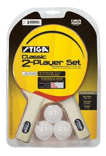 2 Raquetas Stiga Classic Pack De Ping Pong - Tenis De Mesa