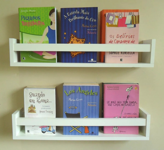 Prateleira Decorativa Livros Infantil U 60 Cm Livreiro Linda
