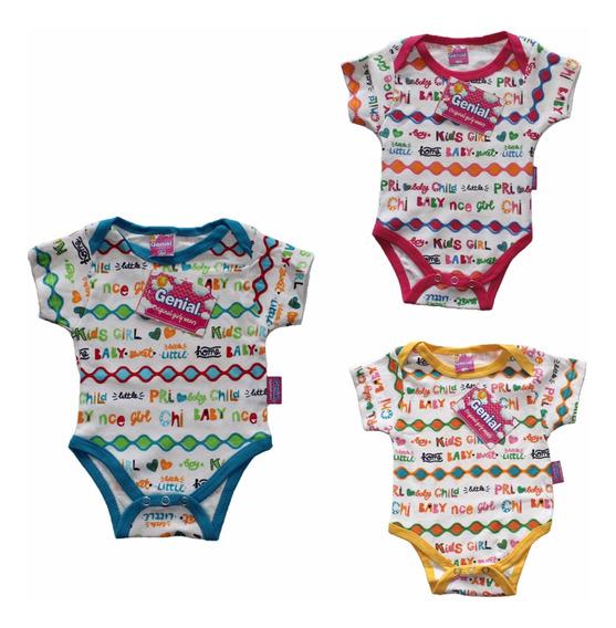 Bodys Para Bebes De 3 Piezas Individuales 3 Colores