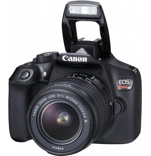 Câmera Canon Eos T6 18-55mm + 75-300mm Kit 12x S/juros
