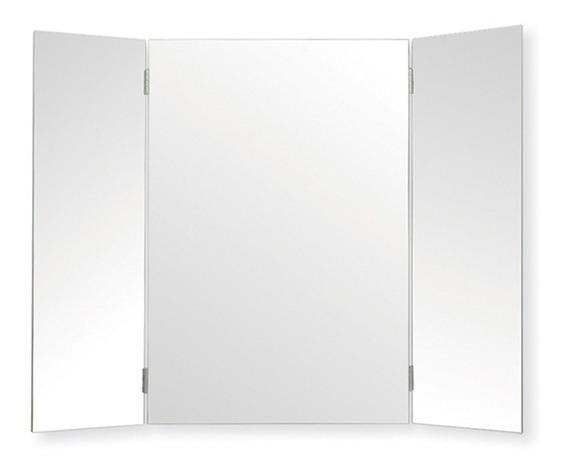Espejo Tríptico 60x78 Pulido Aletas Biseladas Envío Gratis