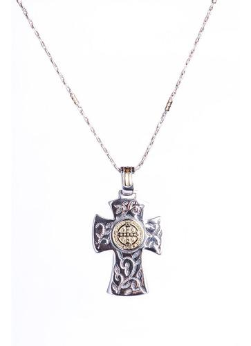 Conjunto De Cadena Force Con Medalla Central De San Benito