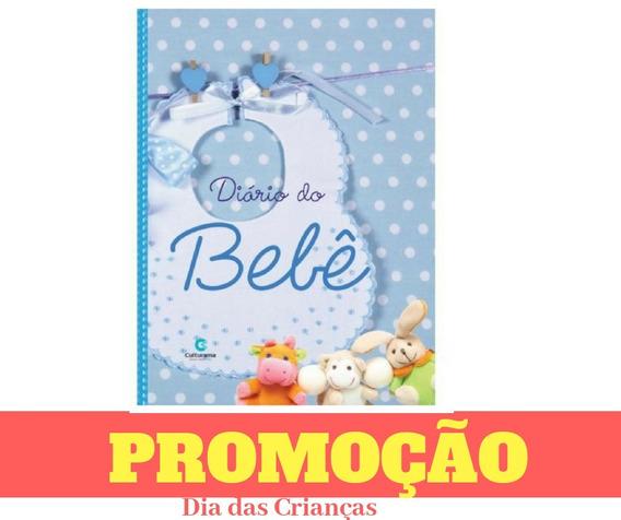 Livro Diário Bebê Álbum Cor Azul Menino Gravidez Recordação