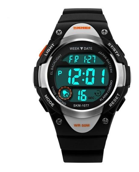 Relógio Infantil Digital Skmei Mod. 1077 P/menino Ou Menina