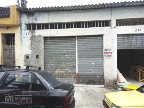 Salão Para Alugar, 50 M² Por R$ 800,00 - São Miguel Paulista - São Paulo/sp - Sl0061