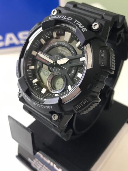Relógio Casio Standard Aeq-110w-1av Prova D
