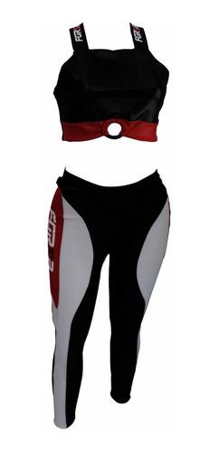 Imagem 1 de 10 de Conjunto Legging E Top Forza Moto