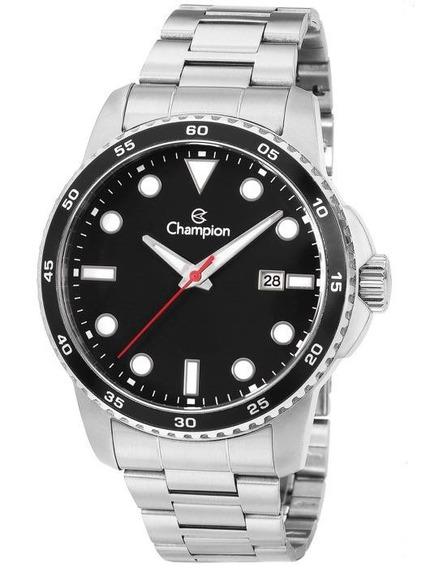 Relógio Masculino Prateado Champion Luxo Original