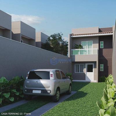Casa Com 2 Suítes Vaga Para 3 Ou Mais Carros, 86 M² - Luzardo Viana - Maracanaú/ce - Ca0774