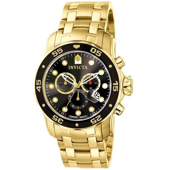 Relógios Invicta Pro Diver 0072 Ouro 18k