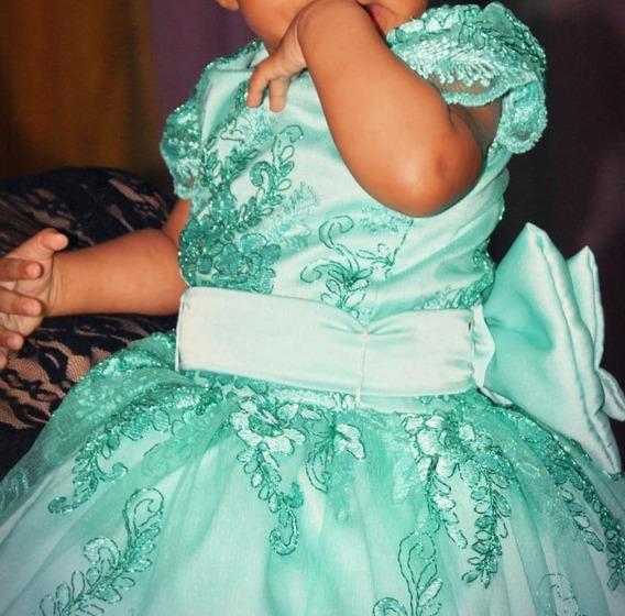 Vestido Princesa Infantil 1 Ano Tema Jardim Encantado