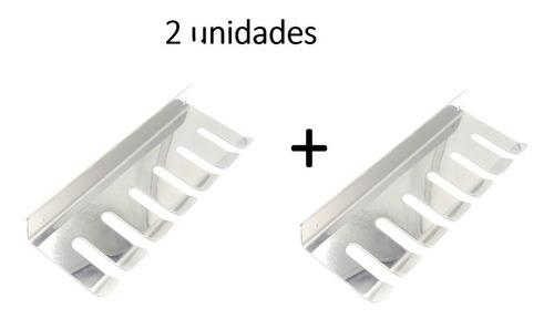Porta Espeto De Parede Pequeno Para 6 Espetos - 2 Unidades