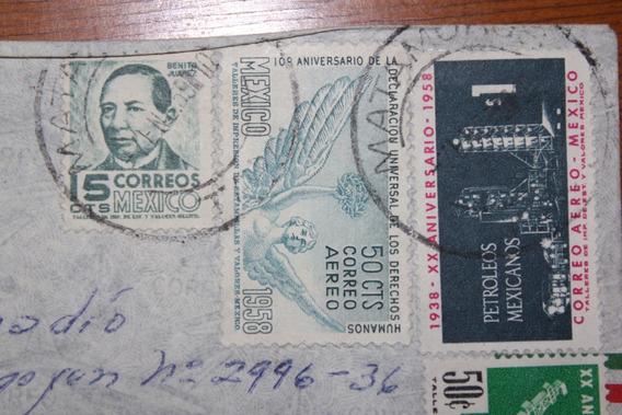Mexico. Carta Sellos S W 1031 1140 1142 1143 1144