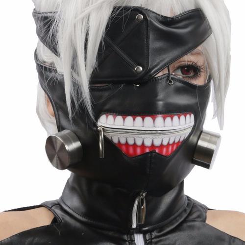 Mascara Kaneki Ken Cuerotex Tokyo Ghoul Tapabocas + Parche