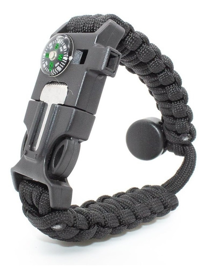 Pulsera Paracord 550 Cobra De Supervivencia Ajustable