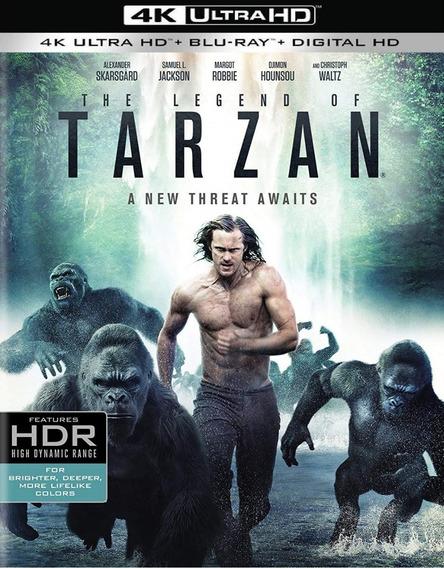 La Leyenda De Tarzan Pelicula 4k Ultra Hd + Blu-ray + Dig Hd