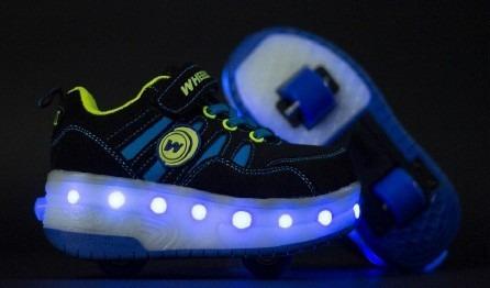 Zapato Patines Con Luces Led Recargables 2 Ruedas