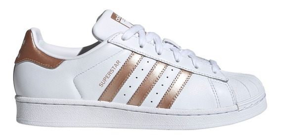 Zapatillas adidas Originals Superstar Bla/bro De Mujer